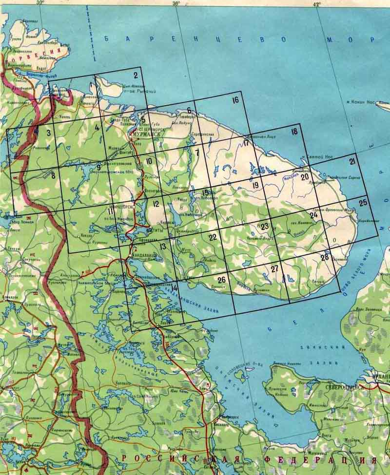 карта россии для рыбаков