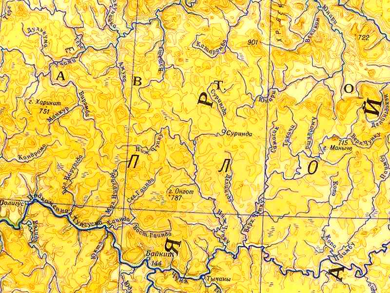 Среднесибирское плоскогорье, реки Суринда